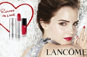 Emma Watson for Lancome's Rouge in Love lipstick line