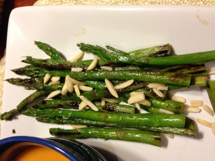 Roasted Asparagus with Slivered Almonds